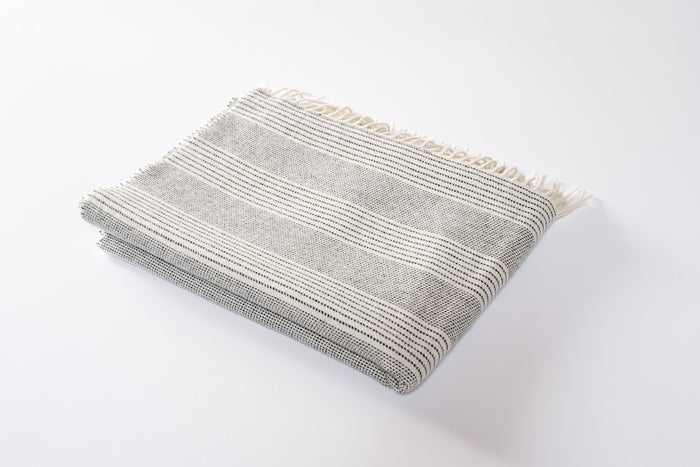Stripe Lambswool Pashmina Cloud
