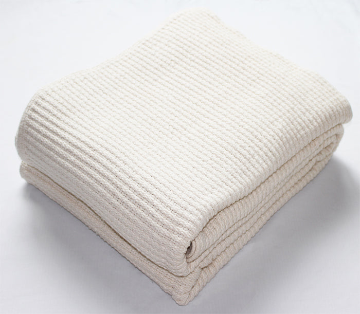 Lattice Weave Blanket in Natural