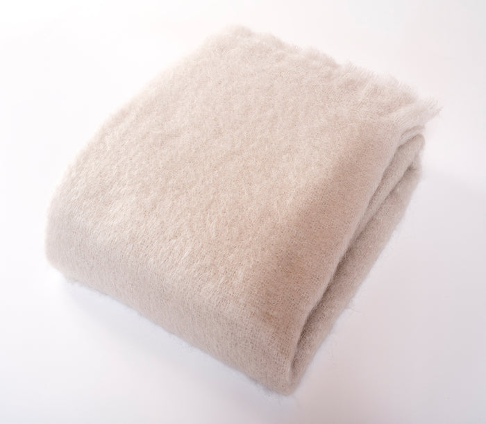 Luxe Mohair Throw Cloud