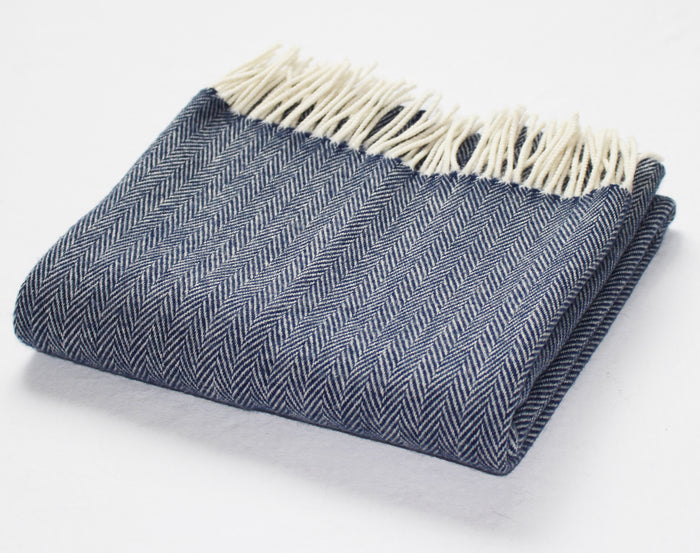 Cashmere Pashmina in Navy