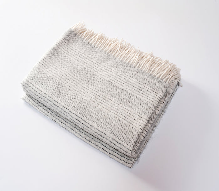 Stripe Alpaca Throw Cloud
