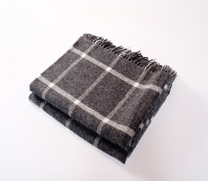 Windowpane Throw Charcoal