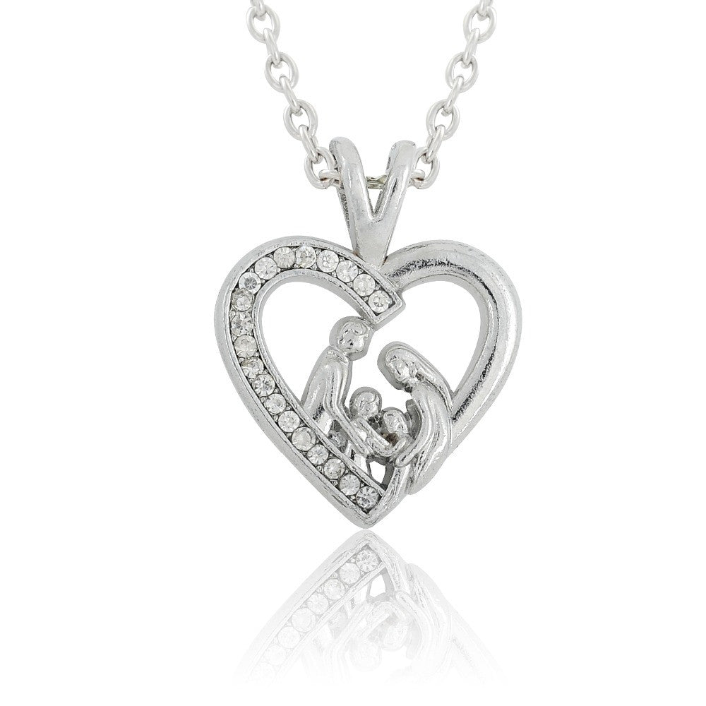 Master class pendants in the shape of a heart with a bunny