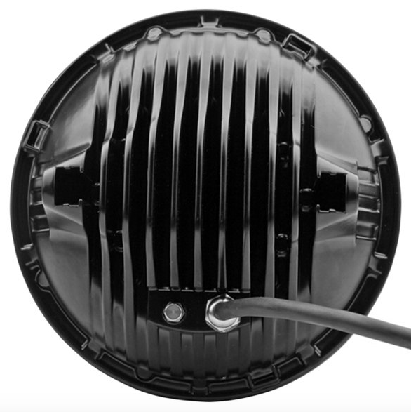 "7"" Round 75W Wrangler LED Headlights - Chrome Mojave"