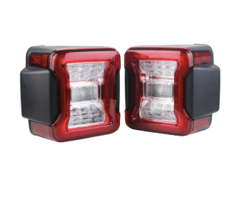 JL 2018-2020 Jeep Wrangler LED Tail Light - Clear Brake Reverse Light