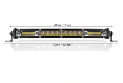"Slim Series Black 12"" 22"" 32"" 42"" LED Light Bar Light - Flood/Spotlight Combo Work/Trail Light"