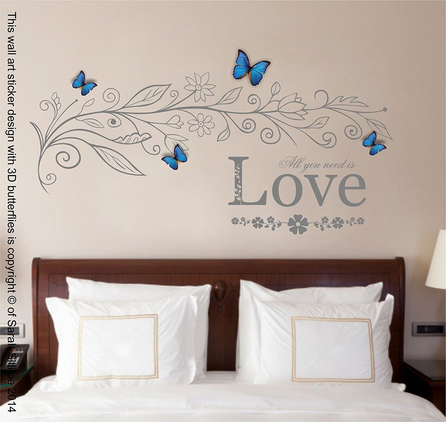 All you need is Love Quote, Vinyl Wall Art Sticker, Mural, Decal ...