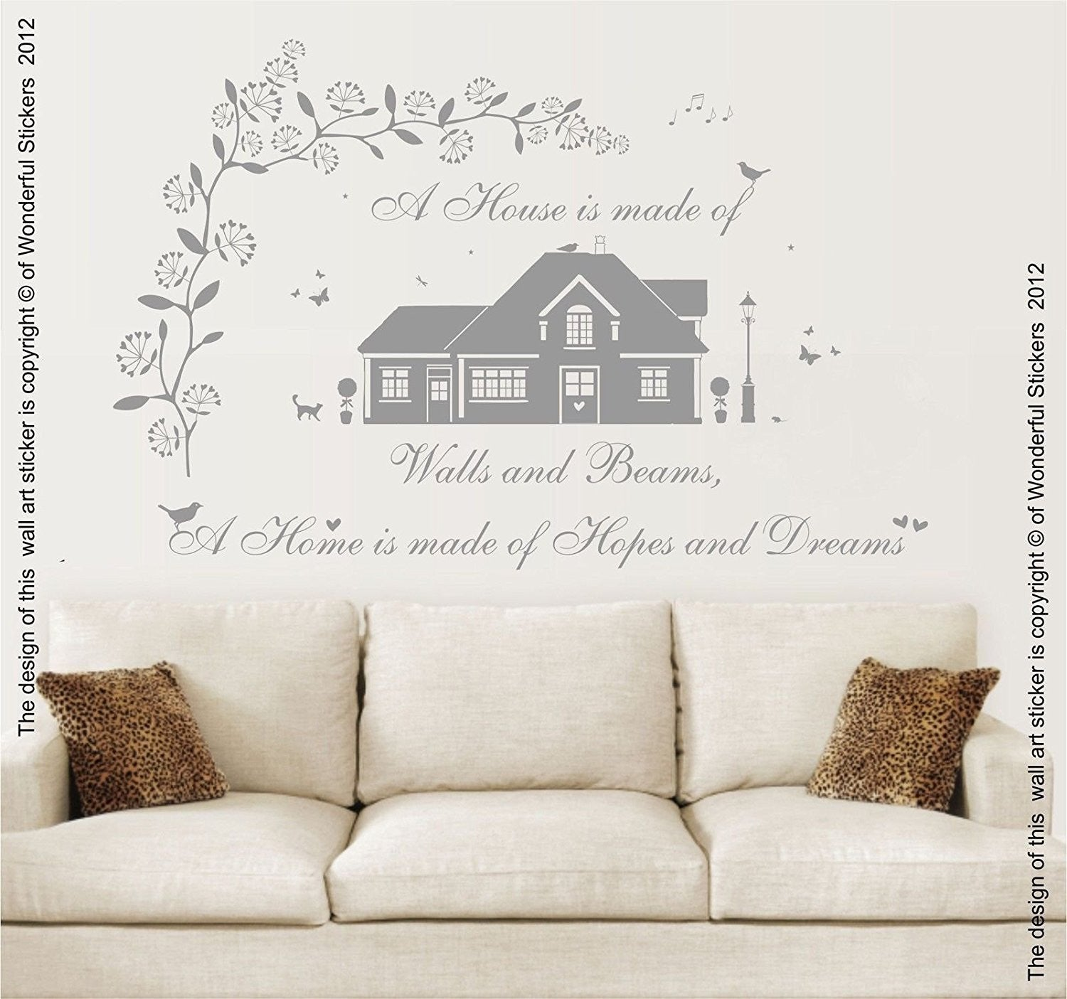 A Home Is Made Of Hopes U0026 Dreams, Vinyl Wall Art Sticker. Mural, Decal.  Home, Wall Decor, Family, Home, Quote. Living Room, Bedroom, Dining Room,  Kitchen. Part 83