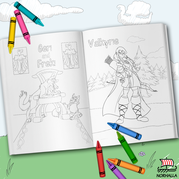 Norse Mythology Coloring Book at Norhalla.com