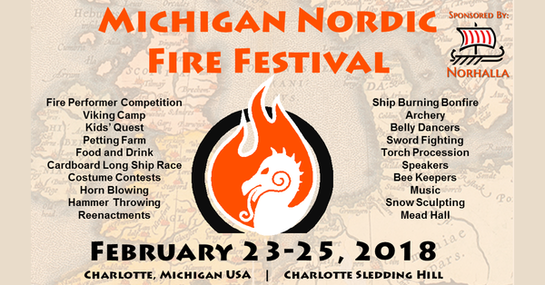 Norhalla is a proud sponsor of the 3rd Annual Michigan Nordic Fire Festival!