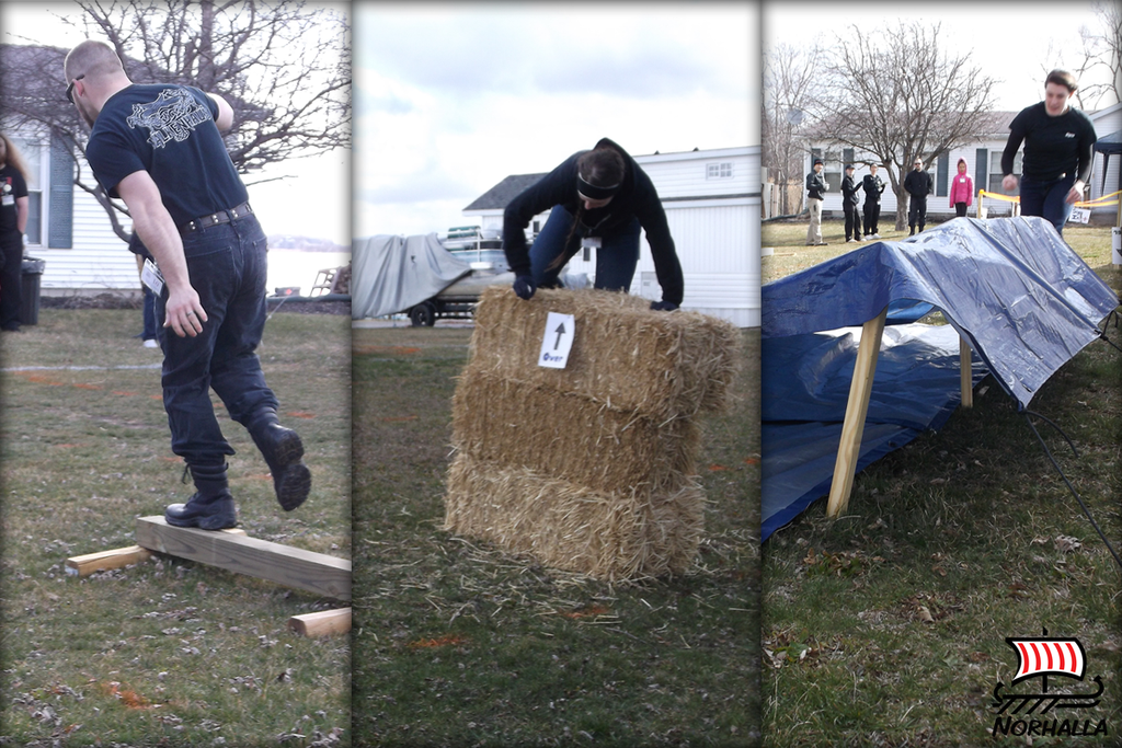 Ragnar's Day Viking Games obstacle Course!