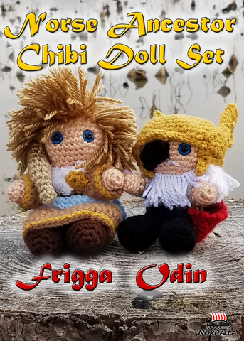 Frigga and Odin Custom Norse Viking ancestor character chibi doll set available for a short time! Norhalla.com
