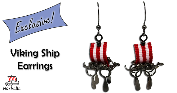 Beautiful custom made Viking Ship earrings available only here at Norhalla!  Norhalla.com