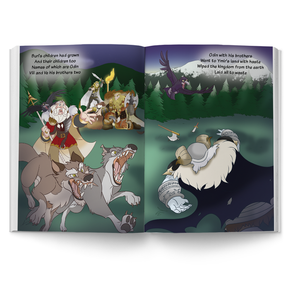 Nordic Lore: Ginnungagap to Asgard children's book from Norse mythology.