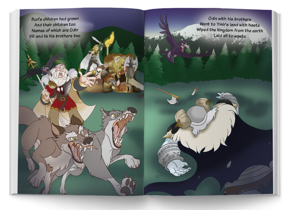 Ginnungagap to Asgard children's book. Norhalla.com
