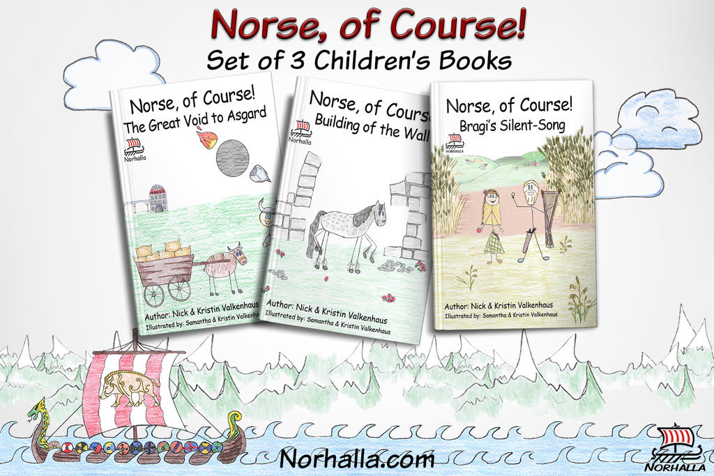 Norse, of Course! Set of 3 children's books at Norhalla.com.