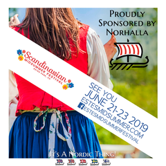 Norhalla, Inc. is sponsoring the Scandinavian Midsummer Festival 2019!