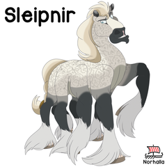 Meet Sleipnir in Nordic Lore, Building of the Wall children's books at Norhalla.com.