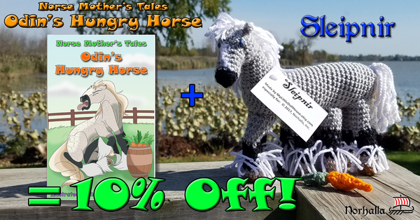 Buy Norse Mother's Tales: Odin's Hungry Horse together with Sleipnir stuffed animal and get 10% off!