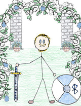Baldur - Baldur is killed by a branch of the mistletoe plant by the blind Hodur at Loki's direction. Illustration for Norse, of Course! by Kristin Valkenhaus, copyright Norhalla.com.