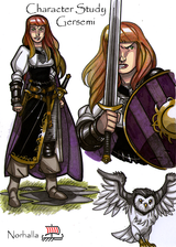 Gersemi - Gersemi is one of Freyja and Odur's daughters, and sister to Hnossa. Illustration by Nicolas R. Giacondino, copyright Norhalla.com.