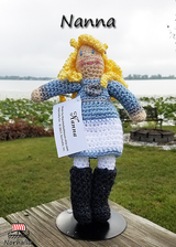 "Custom Nanna Norse Viking ancestor crochet doll made exclusively for Norhalla!  Beautifully handmade doll stands 9"" tall. Norhalla.com"