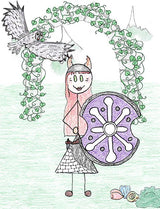 Gersemi - Gersemi is one of Freyja and Odur's daughters, and sister to Hnossa. Illustration for Norse, of Course! by Kristin Valkenhaus, copyright Norhalla.com.