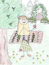 Idunna - Idunna is wife to Bragi and lives in Asgard. She tends the apple trees and gardens in Asgard.  Illustration for Norse, of Course! by Kristin Valkenhaus, copyright Norhalla.com.