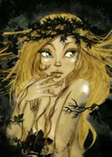 Idunna - Idunna is wife to Bragi and lives in Asgard. She tends the apple trees and gardens in Asgard. Illustration copyright Norhalla.com.