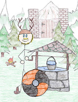 Mimir - In Mythology, Odin sacrifices his right eye to Mimir to gain wisdom; Mimir then drops Odin's eye in his well. To take a drink from Mimir's well is to gain wisdom.  Illustration for Norse, of Course! by Kristin Valkenhaus, copyright Norhalla.com.