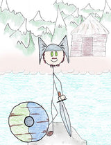 Njord - Njord goes to Asgard after the Aesir-Vanir war with his two children Freyr and Freyja. Njord was born in Vanaheim, lives by the sea in a place called Noatun.  Illustration for Norse, of Course! by Kristin Valkenhaus, copyright Norhalla.com.