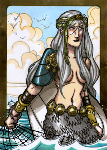 Ran - Ran is wife to Aegir, who are both in mythology referred to as the