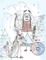 Skadi - Skadi is daughter of the Jotun, Thjazi (whom the Aesir kill). After her father's death, in anger she stands at the gates of Asgard in full armor demanding someone come out to fight her.  Illustration for Norse, of Course! by Kristin Valkenhaus, copyright Norhalla.com.
