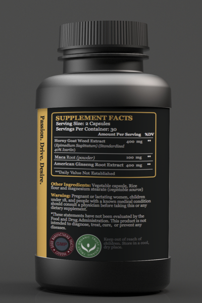RockSteady Horny Goat Weed  Supplement Facts
