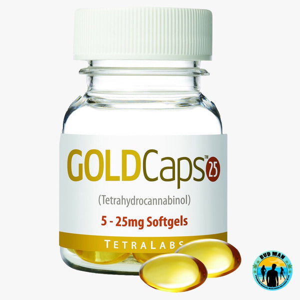 GoldCaps Softgel Capsules (5 per bottle - 25mg each pill)