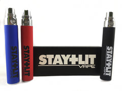 Stay Lit Vape Battery w/ USB Charger 900mah (3 colors)