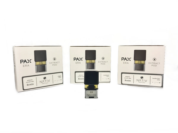 Pax Era Terpene Rich Rosin Extract Oil Pod - Nativ (500mg - 3 Strains)