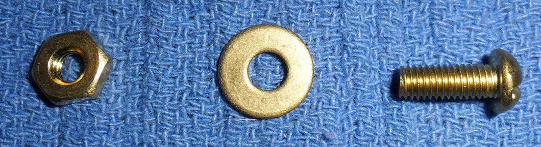 #10 Brass Bolt With Washer And Nut