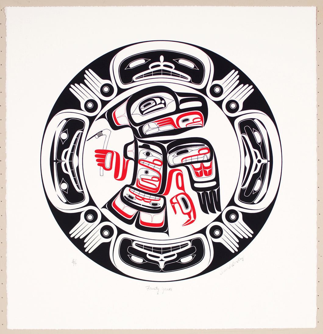 Forty Years: New Print by David A. Boxley, Alaskan Tsimshian