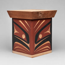 Bentwood Box depicting Woodpecker by Andy Wilbur Peterson, Skokomish