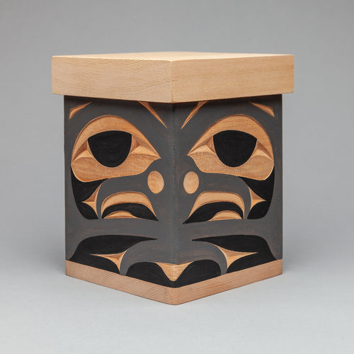 Bentwood Box depicting Blue Jay by Andy Wilbur Peterson, Skokomish