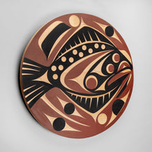 Panel depicting Halibut by Andy Wilbur Peterson, Skokomish