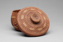 Tsimshian Lidded Basket with Butterfly, c. 1940