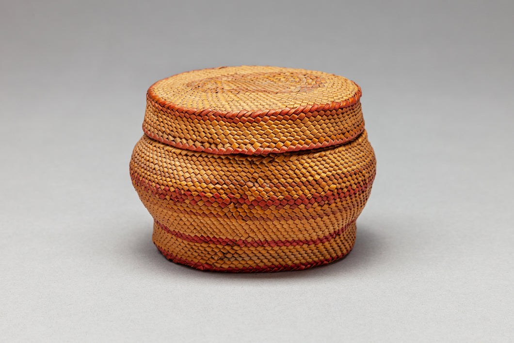 Historic Lidded Makah Treasure Basket, c. 1920