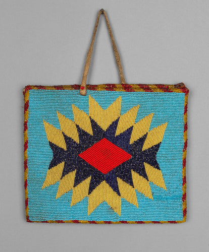 Two Sided Plateau Beaded Purse with Geometric Design, c. 1940