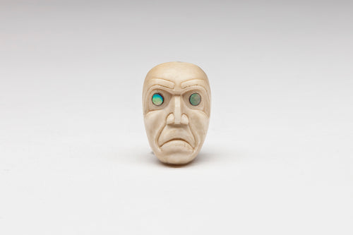 Miniature Ivory Portrait Mask Pendant, Northwest Coast