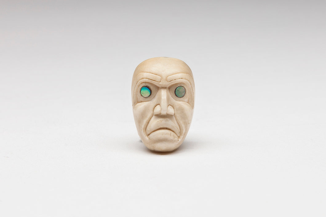 Miniature Ivory Portrait Mask Pendant, Kwakwaka'wakw Nation