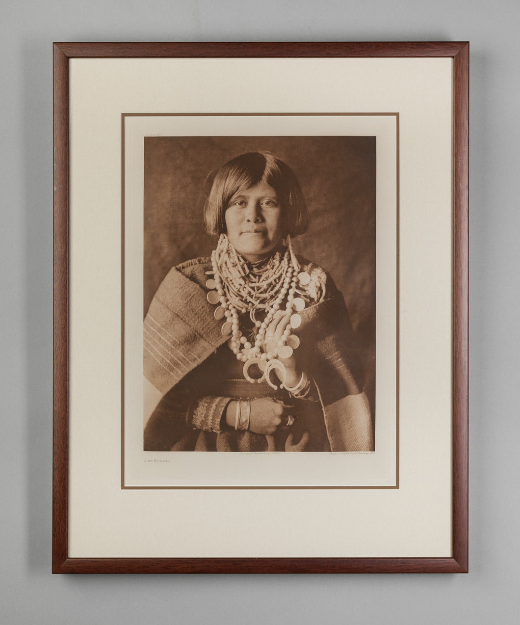 A Zuni Girl, 1903 Original Photogravure by Edward S. Curtis (1868-1952)