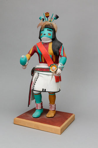 Collector Kachina: Lenang (Flute) Kachina, 1988 by Clifford Bahnimptewa (1938-1984), Hopi
