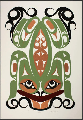 Wak'es (Supernatural Frog) by Francis Dick, Kwakwaka'wakw Nation